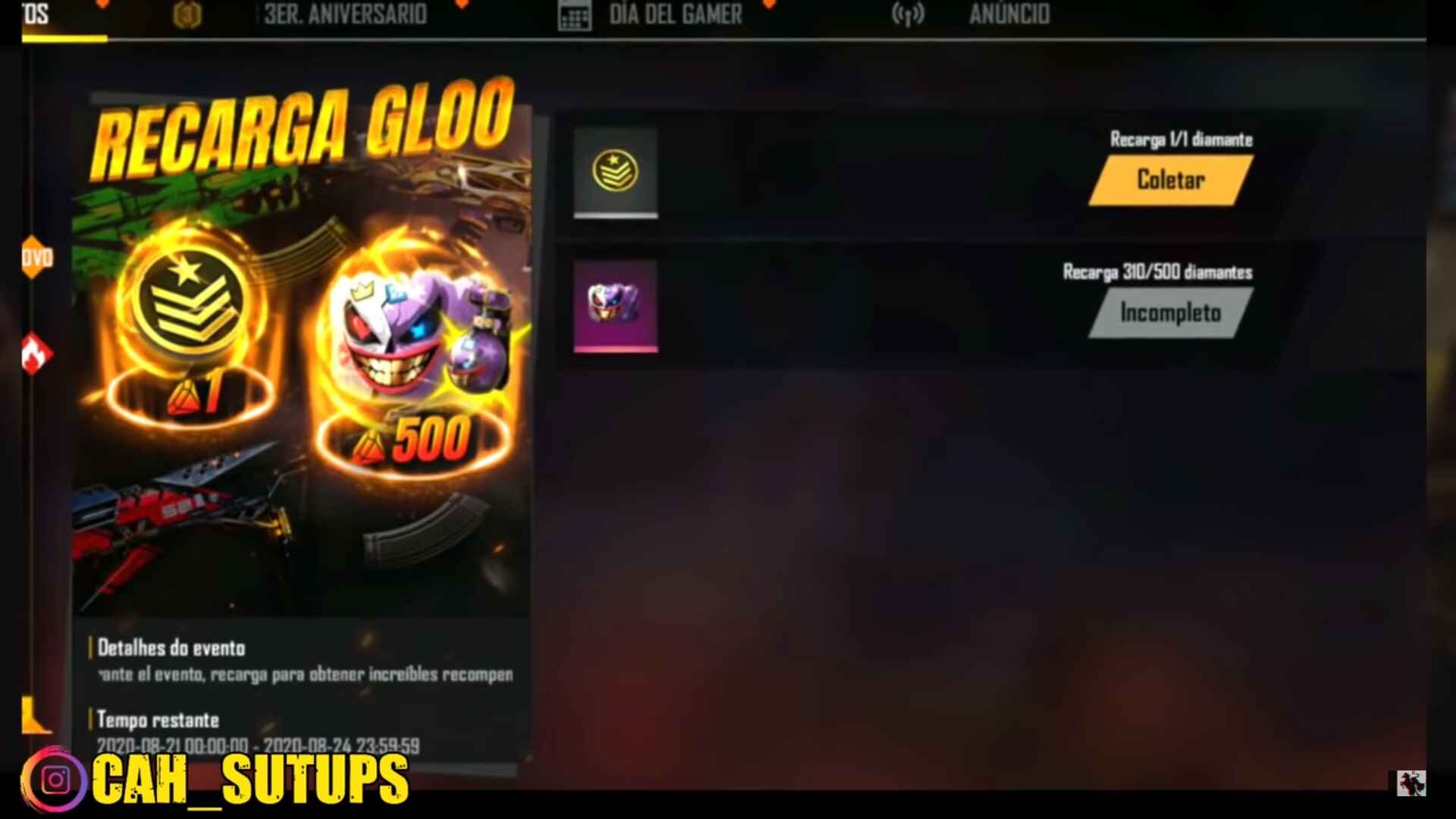 Event Gloo Wall top Up