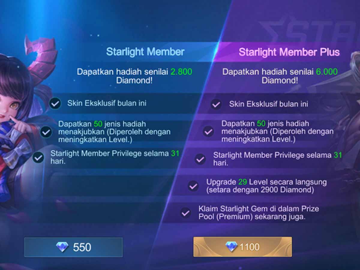 Keuntungan Menjadi Starlight Member Mobile Legends Spin