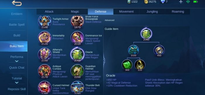 oracle mobile legends