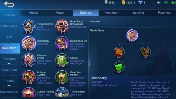 Immortality mobile legends