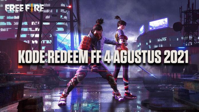 kode redeem FF 4 agustus 2021